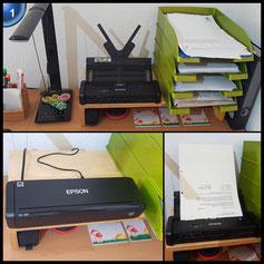 Epson WorkForce DS-310 DIN A4 Dokumentenscanner (600dpi, USB 3.0, beidseitiges Scannen in einem Durchgang)