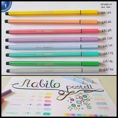 Premium-Filzstift - STABILO Pen 68 - 8er Pack - Pastellfarben