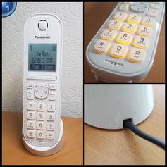 Panasonic KX-TGQ200GW IP-Telefon, CAT-iq weiß
