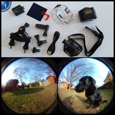 MixMart HD 1080P WiFi Wasserdichte Action Kamera Helmkamera 220 ° Weitwinkel 2,0 Zoll mit 2 Verbesserten Batterien und Zubehör Kits