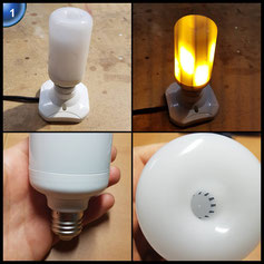 Solocil LED Glühbirne mit Flammen-Effekt - E27 1300K Leuchtmittel - Leuchte für Hause, Garten, Bar, Party, Weihnachten