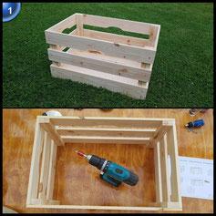 Holzkiste - Vintage Kiste - Weinkiste aus Holz- Obstkiste Groß zur Dekoration und Aufbewahrung - Dekokiste für Indoor - Apfelkiste als Tisch oder Regal natur myGardenlust