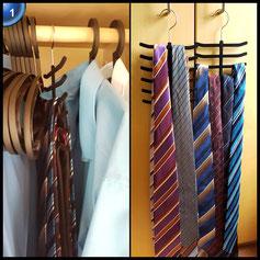 Krawattenhalter Schalhalter Schlipshalter 12 Krawatten Gürtel Halter Bügel Schwarz