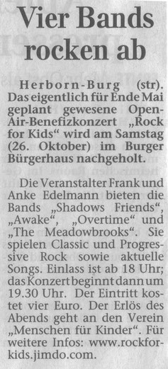 Herborner Tageblatt vom 11.10.2013