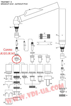 Деталировка Трафимет А101/А141