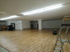 Der Boden ist fertig! Nächster Schritt - die Spiegel - 18.01.18