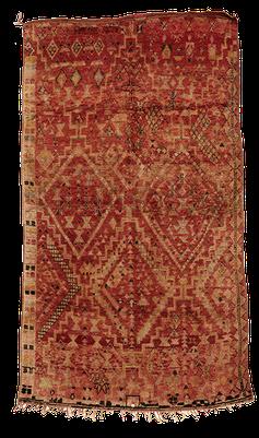 Berber Rug from Morocco. Grösser geknüpfter Teppich, Marokko. Teppich Laden in Zürich. Tapis antique Zurich.
