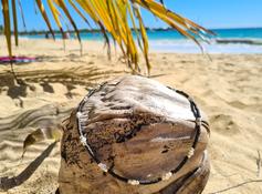Silberketten mit Kokosnuss