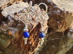 Silberohrhänger mit Schmucksteinen