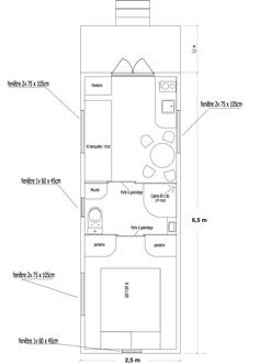 """Roulotte """"Cerise"""" : Chambre séparée, cuisine & salle d'eau"""