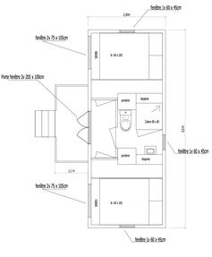 """Roulotte """"Cerise"""" : 2 chambres avec Salle d'eau"""