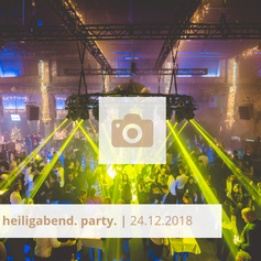 Logo Heiligabend Party Halle Tor 2