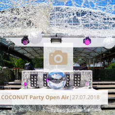 Coconut Party Open Air Juli 2018 Biergarten