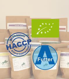 Bio, HACCP, A Futter, Qualität, Pferdefutter, Fütterung, Pferdefütterung,