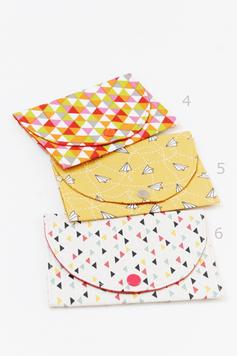 Pochette barrettes tissu imprimé