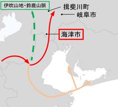 図11 東海地方への進出経路