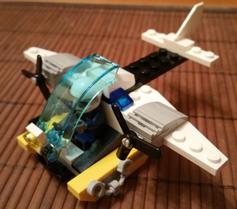 Andrea (Valladolid) Avión Policia Lego