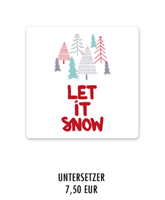 "Keramikuntersetzer ""let it snow"" kaufen"