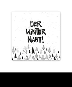 "Keramikuntersetzer ""Der Winter naht"""