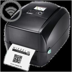 Etikettendrucker Godex RT700iW Niesel-Etikett