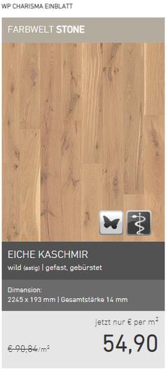 Weitzer Parkett Eiche Kaschmir wild gefast gebürstet EUR 54,90/m2