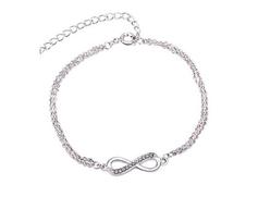 Infinty Armband, Armkette mit Unendlichkeitszeichen, Infinty Armband