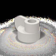 Candela Kerzenständer von Pott Weiß
