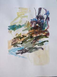 21.8.10 2010 76 x 57 cm Aquarell / Papier