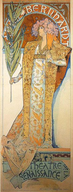 『ジスモンダ』のポスター 1894年