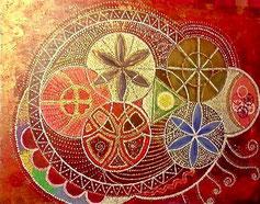 Totem Art Vision / Naty Davillars - Horloge tellurique -Tous droits réservés