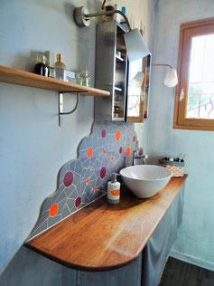 Crédence de salle de bain en mosaïque - Zam-création