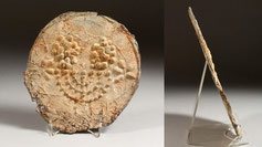 Lead disc with menorah ancient