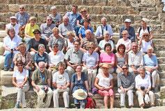 Die Reisegruppe des GHV im römischen Theater von Salamis