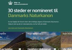 Die Wahl zu Dänemarks schönsten Naturgebieten läuft. Screenshot: C. Schumann