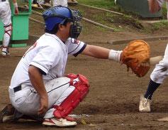 草野球チーム アロハ 捕手 日高