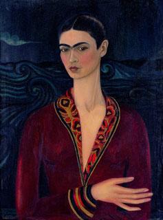 Autoritratto con vestito di velluto, olio su tela 1926. Copyright Banco de México Diego Rivera e Frida Kahlo Museum Trust. México D.F. Siae 2014