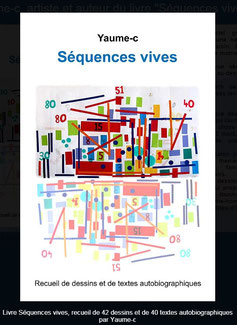 """Couverture du livre """"Séquences vives"""" par Yaume-c, jeune adulte autiste"""
