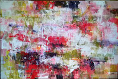 无题 -丙烯颜料绘画 - 2017年4月- 2米/1米