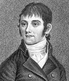 Bartolomeo Bortolazzi. Radierung von Johann Gottfried Scheffner, 1810.