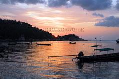 Coucher de soleil en Thaïlande