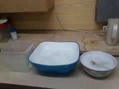 Preparativos para el baño