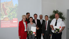 v.l. Sylvia Bretschneider, Daniel Rogge, Christina Lück-Oppermann, René Martin, Michael Stieber, Manfred Dachner, Bernd Niemszewsky
