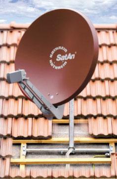 Die Montage-Lösung - Dachsparrenhalter von Kathrein.
