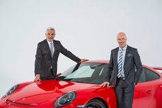 Porsche Wien Liesing Geschäftsführer Martin Märkl und Peter Herget