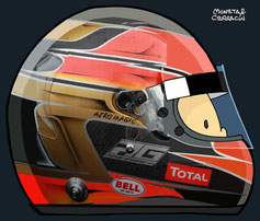 Helmet of Romain Grosjean by Muneta & Cerracín