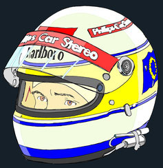 Helmet of Bertrand Gachot  by Muneta & Cerracín
