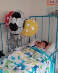 Yordi im Krankenhaus von Montería