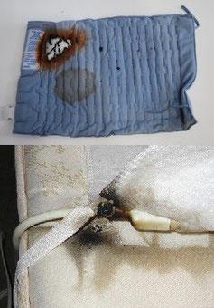 Desperfectos en mantas eléctricas