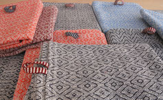 handwoven must haves you find at the webshop of the weaving studio Klee
