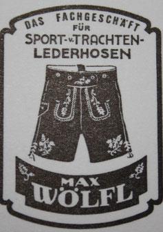 Firmenlogo Max Wölfl - Handgemachte Hirschlederhosen